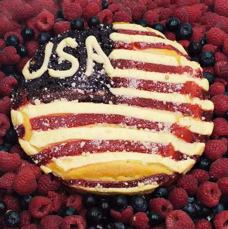 Fourth of July U.S.A. Cake