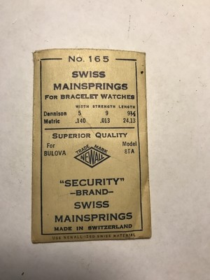 NEWALL Security Mainspring for Bulova 8TA - Steel