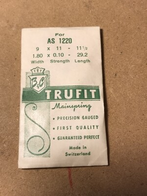 Trufit Mainspring for A.S. caliber 1220 - Steel