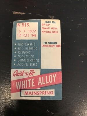 HR Quick Fit Mainspring K513 for Langendorf 1305 - Alloy