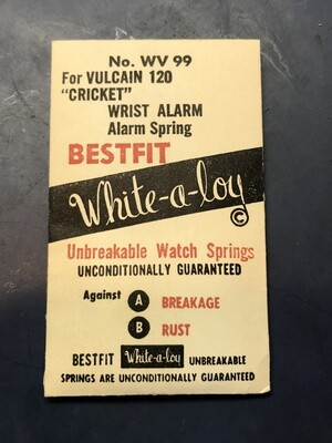 BESTFIT Mainspring WV99 for Vulcain caliber 120 Wrist Alarm - Alloy
