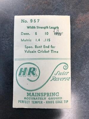 HR Mainspring #957 for Vulcain Cricket Wrist Alarm - Steel