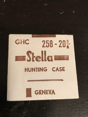 Stella GHC Hunting Case Crystal 25.8mm (size 20¾) - New