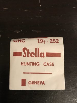 Stella GHC Hunting Case Crystal 25.2mm (size 19¾) - New