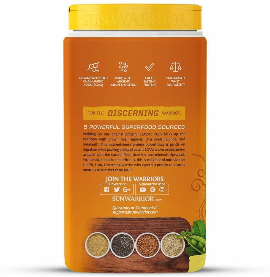 SunWarrior Organic Classic Plus Protein 750g
