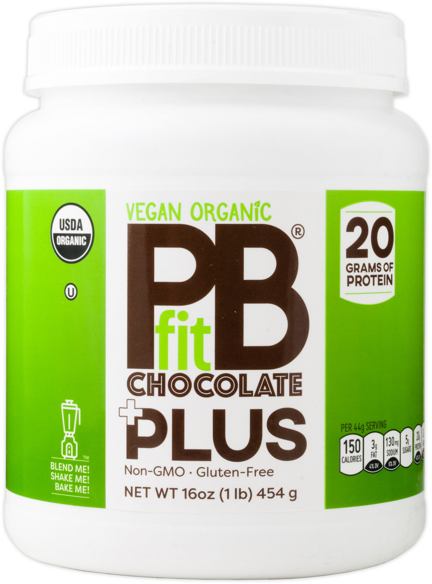 PBfit Vegan Organic Chocolate Plus Protein - 1lb 856260006593