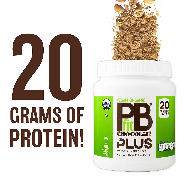 PBfit Vegan Organic Chocolate Plus Protein - 1lb