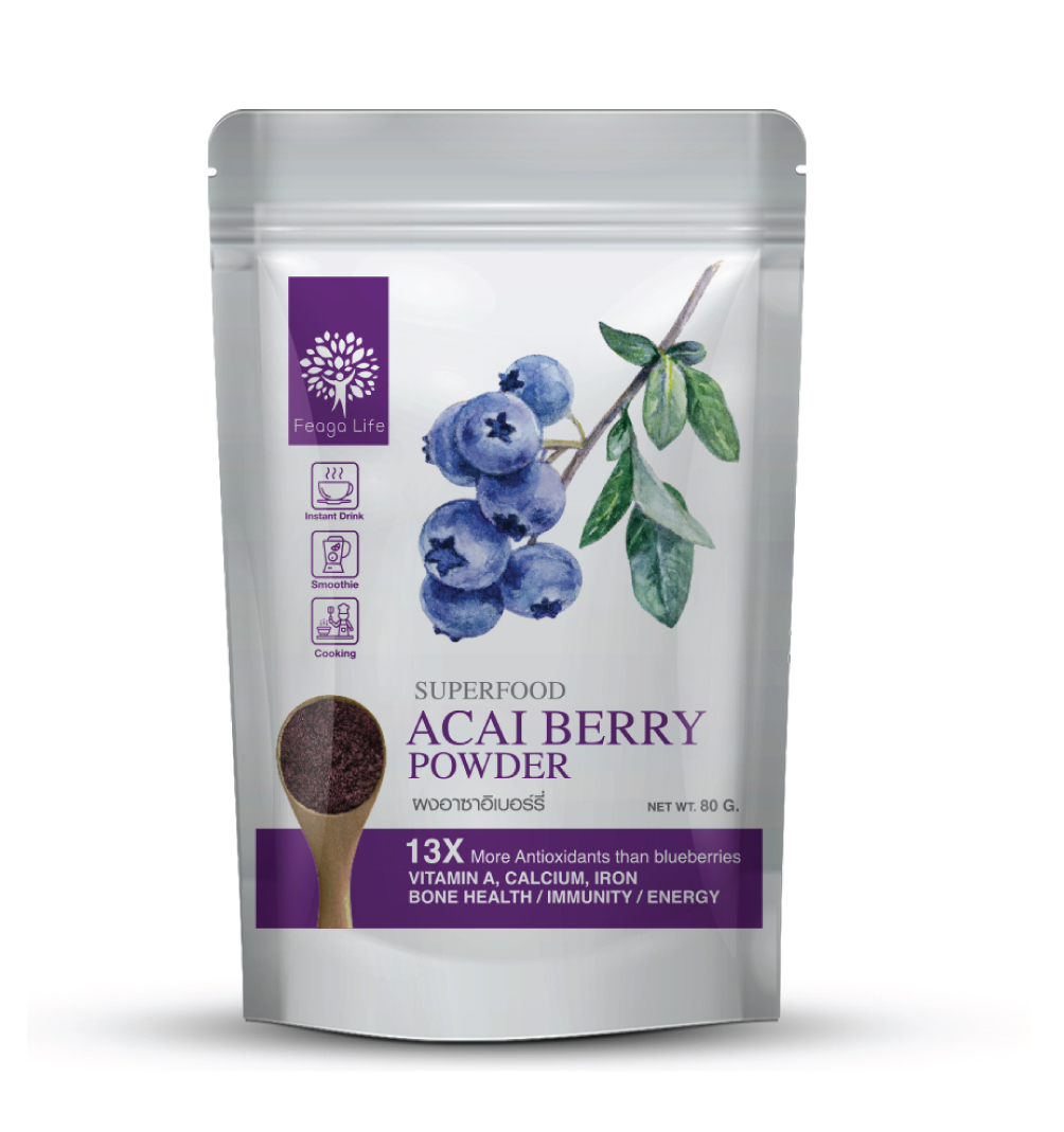 Feaga Life Organic Acai Berry Powder (Freeze-dried) 80g 10109