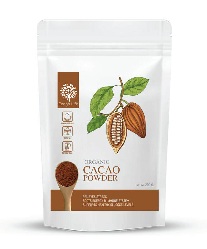 Feaga Life Organic Cacao Powder 200g 10115
