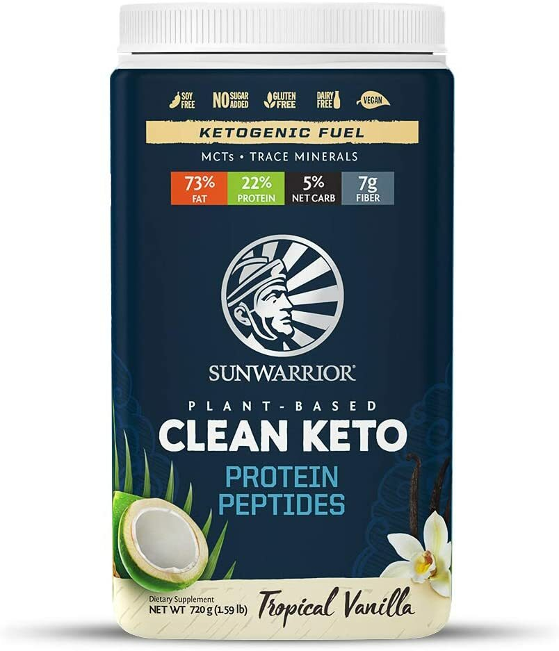 Sunwarrior Clean Keto Protein Peptides 750g 814784026886(base)