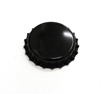 Black Metal Bottle Caps/Crowns
