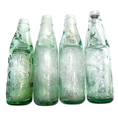 Group of 4 old Codd Bottles