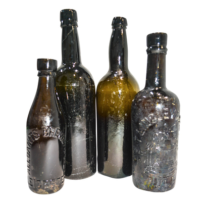 Antique Brown Bottles