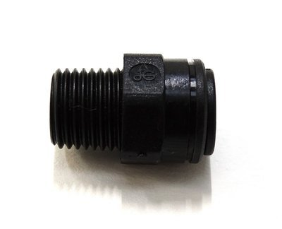 """John Guest - 8mm x 1/4"""" BSP - Straight Adaptor"""