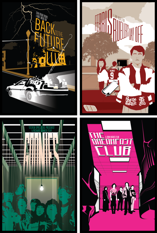 Group of all 6 individual posters