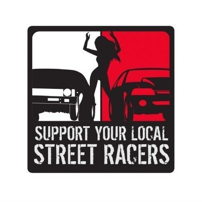 MIDWEST STREETCARS SUPPORT YOUR LOCAL STREET RACERS DECAL
