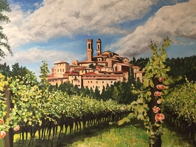 Vineyard in Tuscany - Canvas (A3)