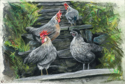 Mel's Chickens Two (A3)