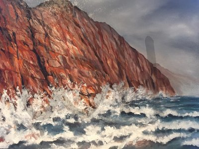 Stormy Cliffs at Sidmouth Devon (A3)