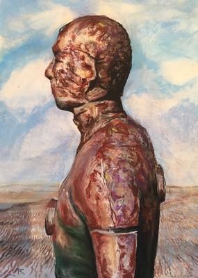 Gormley Statue - Rust (A3)