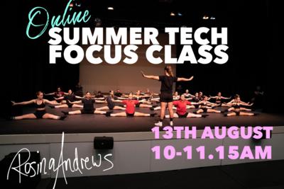 Summer Technique Focus Class - online