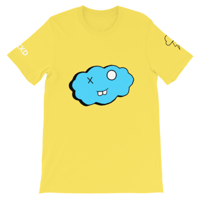 Short-Sleeve Yellow and Blue Clxxd Unisex T-Shirt