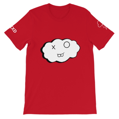 Short-Sleeve Red and White Clxxd Unisex T-Shirt