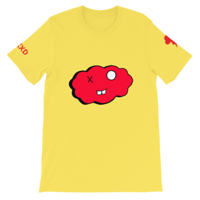 Short-Sleeve Yellow and Red Clxxd Unisex T-Shirt