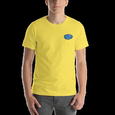 Short-Sleeve Unisex T-Shirt YELLOW BLUE CLXXD