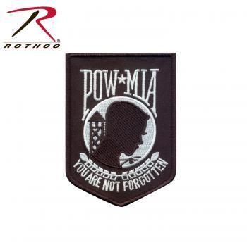 POW/MIA WHITE/BLACK MILITARY PATCH