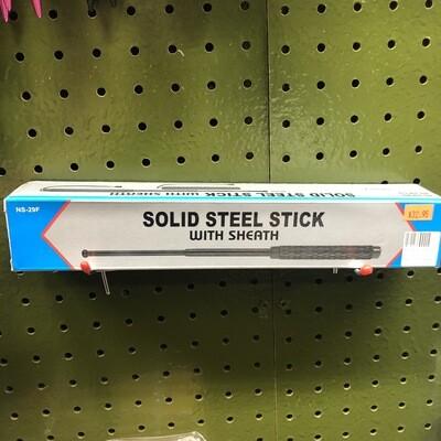 "29"" SOLID STEEL STICK W/SHEATH"