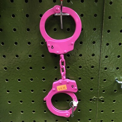 PINK LOCKING HANDCUFFS