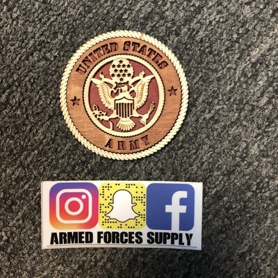 ARMY WOODEN MAGNET