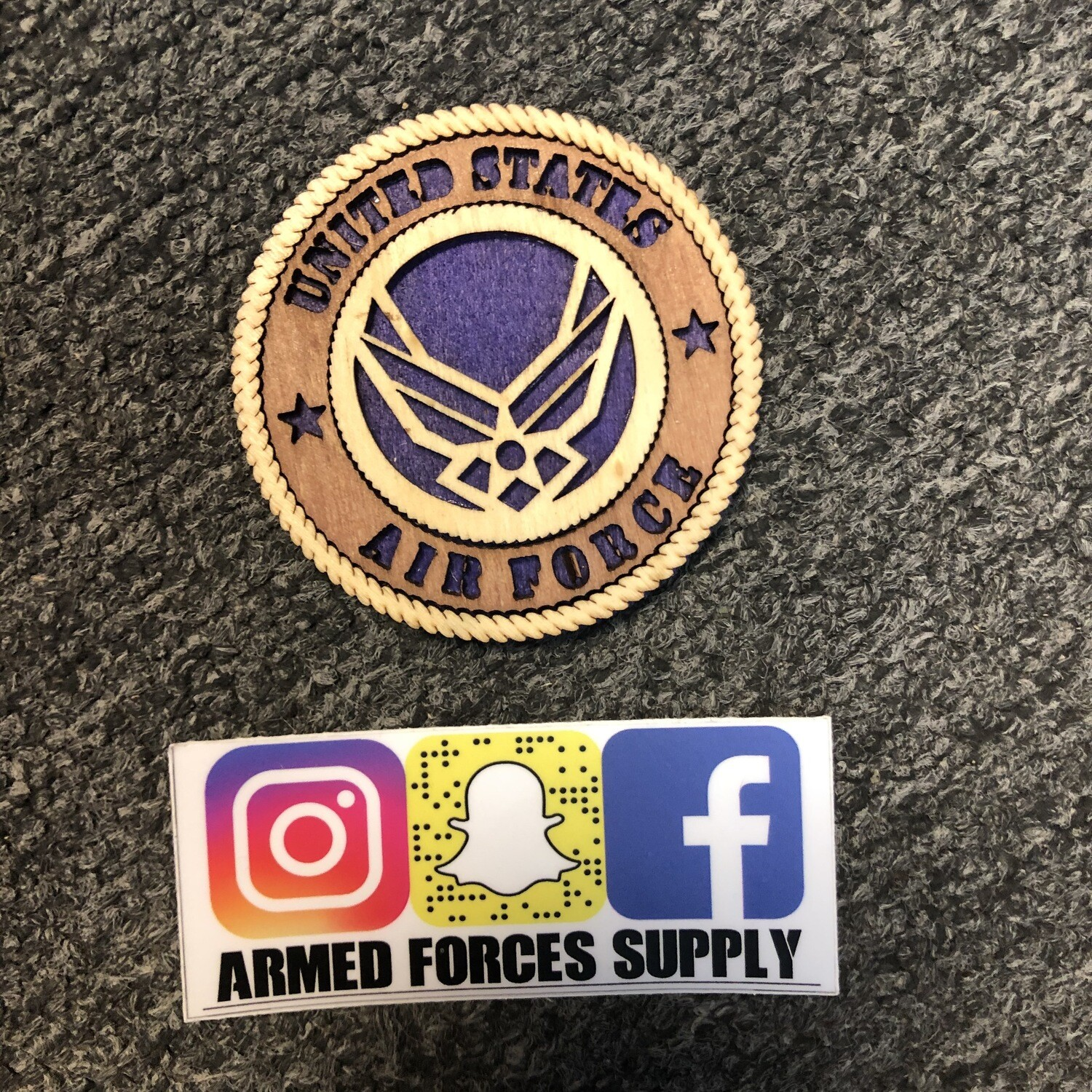 AIR FORCE WOODEN MAGNET