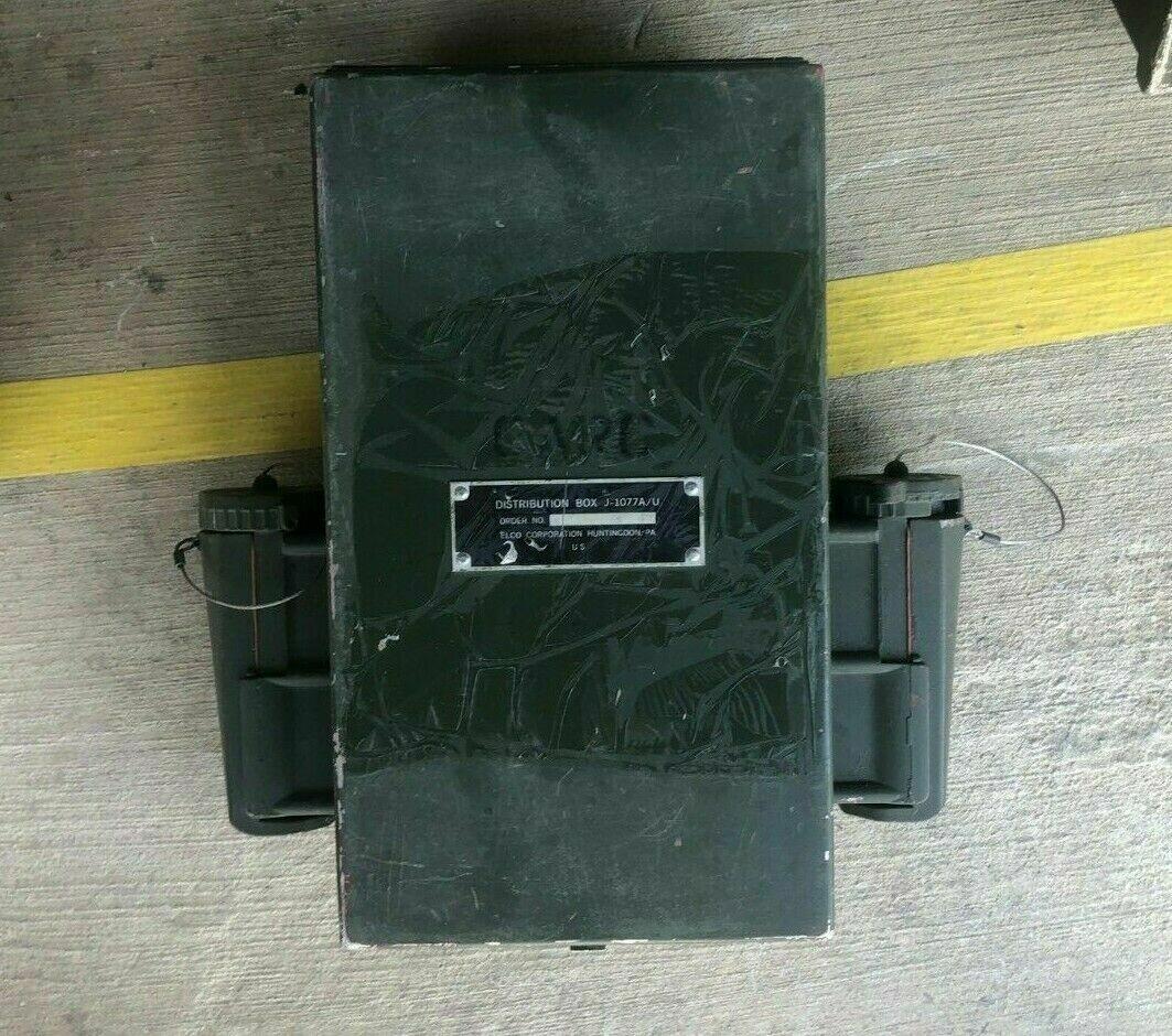 DISTRIBIUTION BOX J-1077A/U ELCO CORP AC BOX ASSEMBLY AMPER PROGRAMS