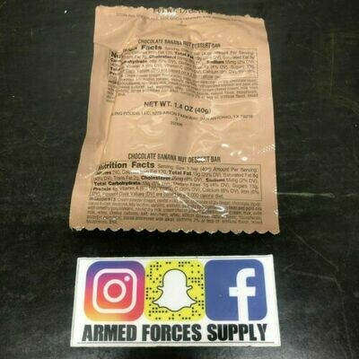 MILITARY MRE CHOCOLATE BANANA NUT BAR