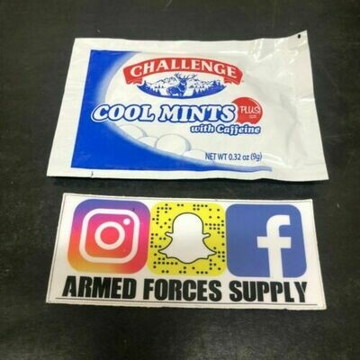 MILITARY MRE CAFFEINATED MINTS