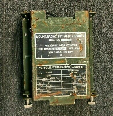 RADIAC SET RESILIENT GENERAL PURPOSE MOUNT MT-6123/VDR-2