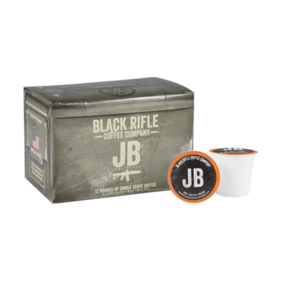 JUST BLACK 12 ROUND COFFEE