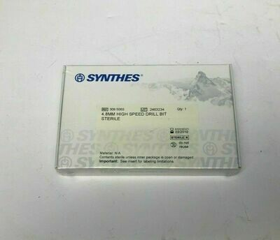 SYNTHS 4.8MM HIGH-SPEED DRILL BITS GENERAL MEDICAL HOSPITAL