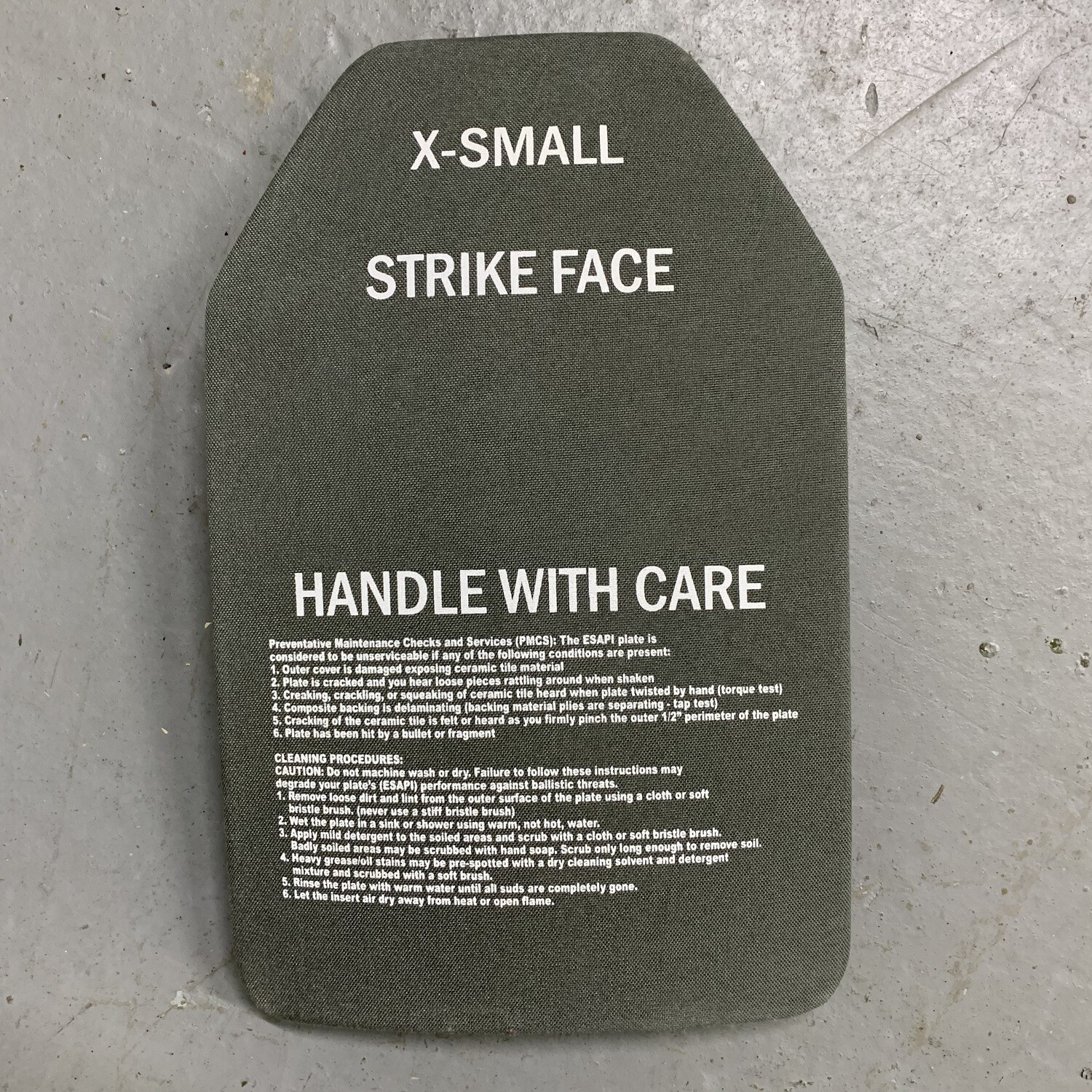 X-SMALL GREEN SAPI FRONT/BACK PLATE
