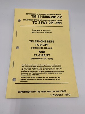 TA-312/PT & TA-312A/PT Telephone Set Manual Genuine Issue