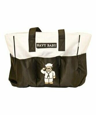 NAVY DIAPER BAG/TOTE