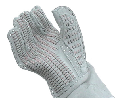 ARMY GRAY SUEDE GLOVES BARBED WIRE HANDLERS