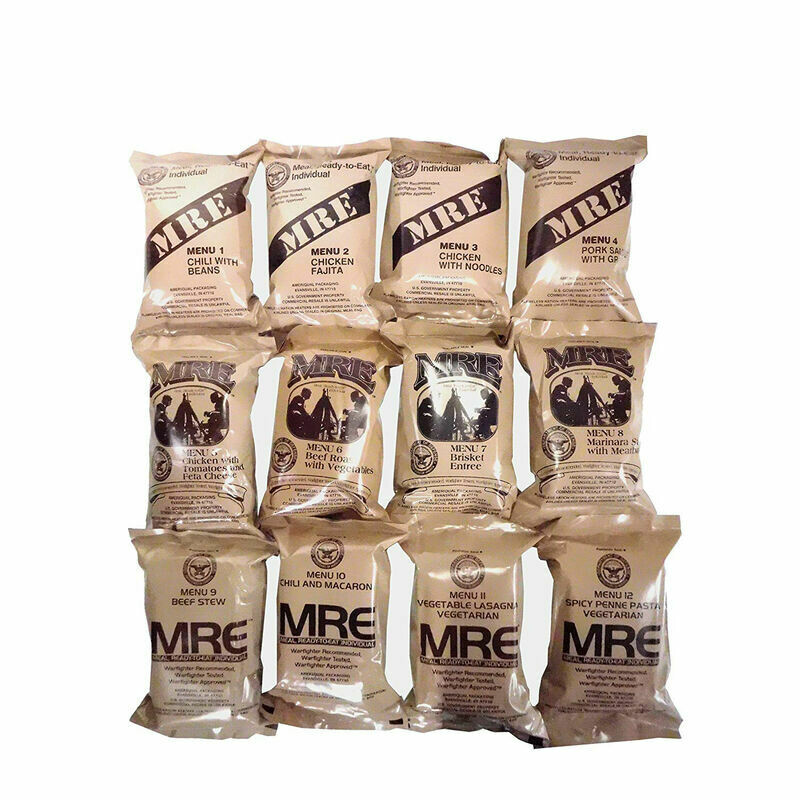 NEW MILITARY SOPAKCO MRE CASE OF 14 LOW SODIUM MEALS 2025