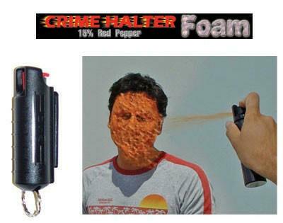 CRIME HALTER 1/2 OZ PEPPER SPRAY FOAM