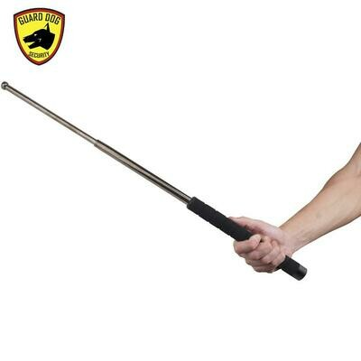 GUARD DOG SECURITY TACTICAL BATON SILVER HEAVY DUTY STEEL X-SERIES
