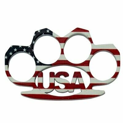 USA AMERICAN FLAG BRASS KNUCKLES