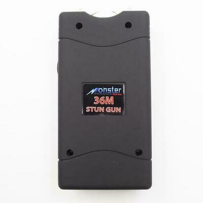 MONSTER MODEL 36M BLACK RECHARGEABLE LED FLASHLIGHT STUN GUN