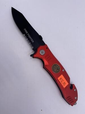 FIRE FIGHTER RED STEEL KNIFE